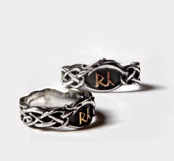 Eheringe Aus Silber Und Gold Mit Runen Im Urnesstil