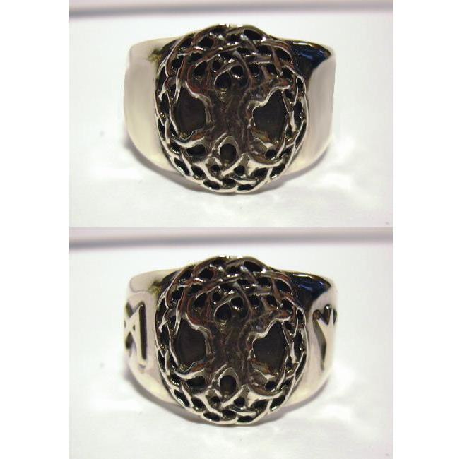 ring aus silber mit keltischem lebensbaum mit 2 w hlbaren. Black Bedroom Furniture Sets. Home Design Ideas