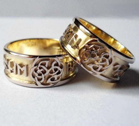 Eheringe keltischer Knoten Gold