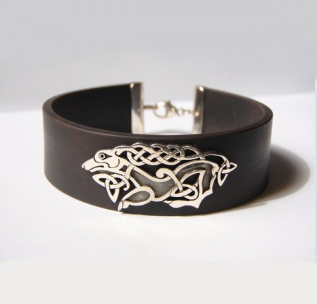 Kautschuk Armband mit keltischem Motiv