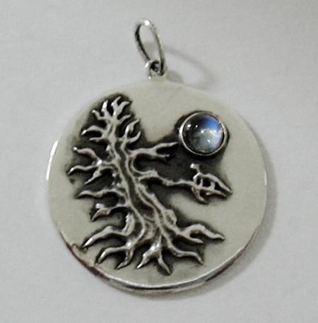 Kettenanhänger Baum im Mondschein