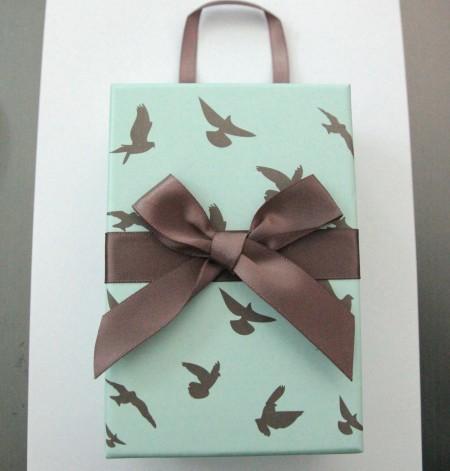 Geschenkbox mint mit Tauben(groß)