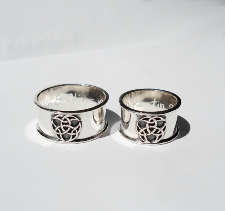 Eheringe keltischer Dreierknoten