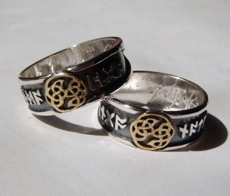 Eheringe keltischer Knoten