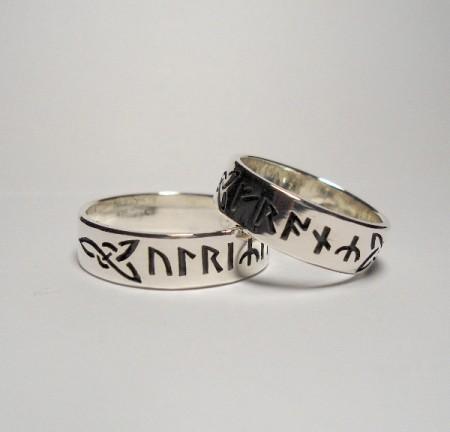 Keltische Eheringe mit Runen 2