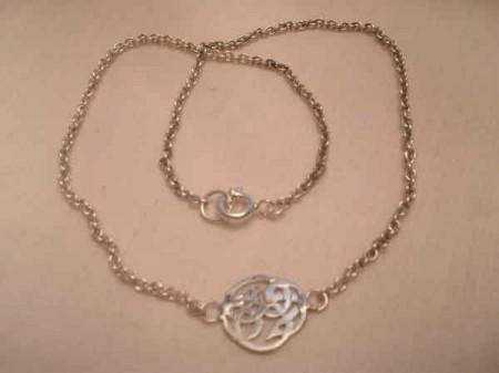Fußkette mit keltischem Knoten