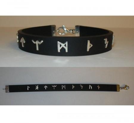 Kautschuk Armband mit Runen/Buchstaben