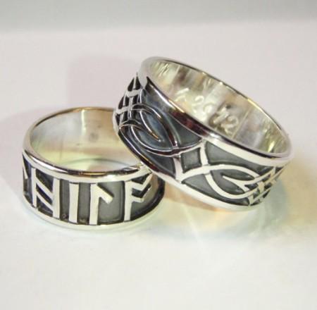 Keltische Eheringe mit wählbaren Runen
