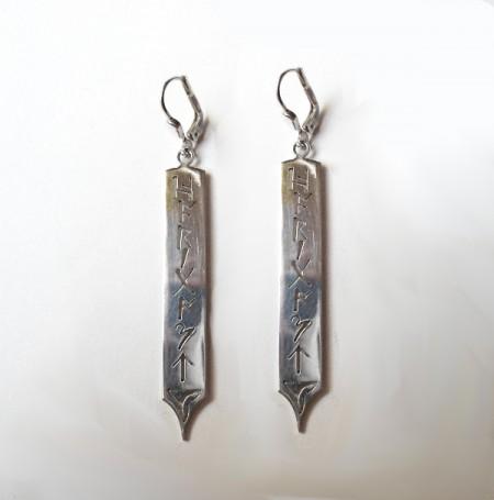 Keltische Ohrhänger mit wählbaren Runen/Buchstaben