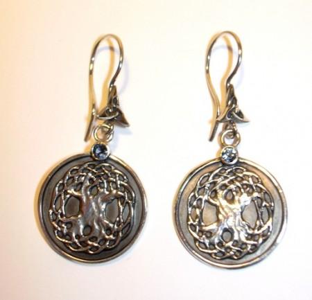 Keltische Ohrhänger Lebensbaum(Paar)