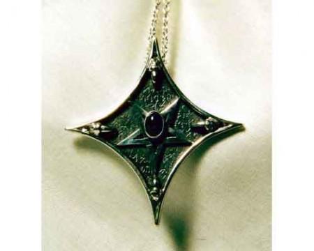 Kettenanhänger Pentagramm mit Sterndiopsid