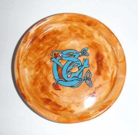 Kleiner Teller keltischer Hund