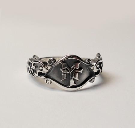 Keltischer Monogramm Ring