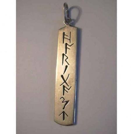Namens-Kettenanhänger mit Runen oder Buchstaben nach Wahl