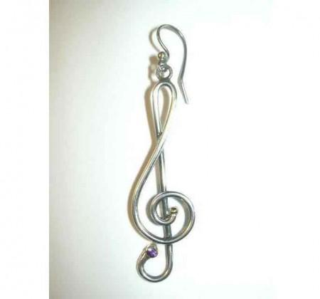 Ohrhänger Notenschlüssel (Paar)