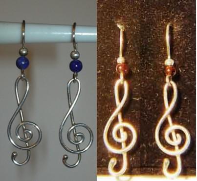 Ohrhänger Violinschlüssel