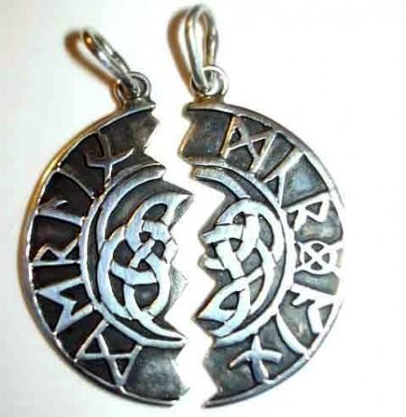 Partneranhänger keltischer Knoten