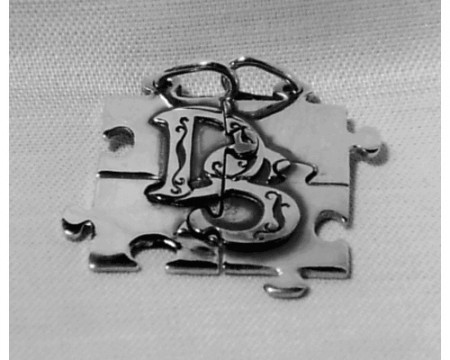 Partneranhänger Puzzle mit Monogramm