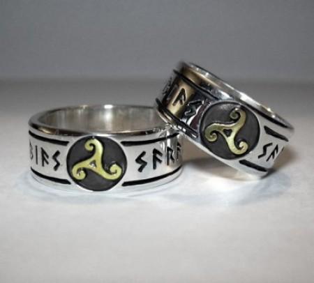 Ring mit Triskele (Einzelring)
