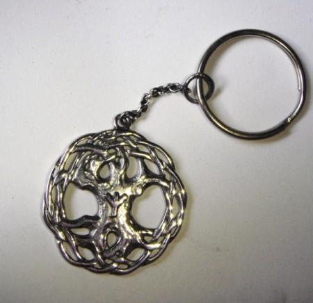 Schlüsselanhänger keltischer Lebensbaum mit wählbarer RuneRune