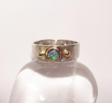 Zehenring mit Opal