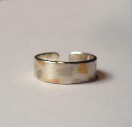 Zehenring Silber-Gold